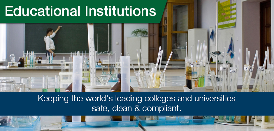EHS for Educational Institutions universities schools laboratory cleanup removal relocation services